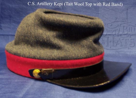 C.S. Artillery Kepi (Tait Wool Top with Red Band)